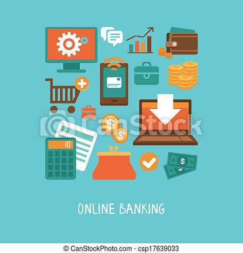 Bancos en línea y negocios - csp17639033
