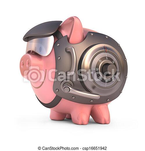 banca piggy, scudo - csp16651942