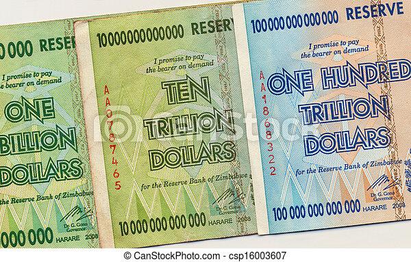 banconote, zimbabwe - csp16003607