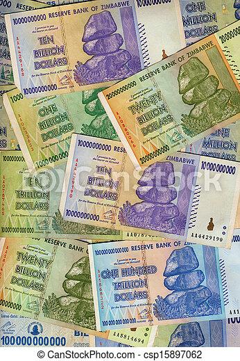 banconote, zimbabwe - csp15897062