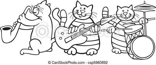 Katzen-Band für Farbbuch - csp5960892