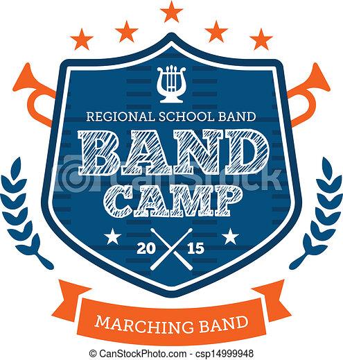 Band camp emblem - csp14999948