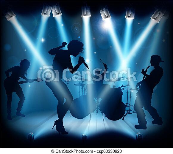 Rockkonzert bühne