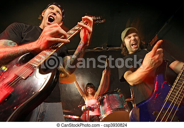 banda, concerto, roccia - csp3930824