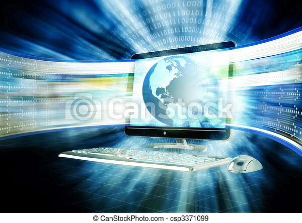 banda larga, internet - csp3371099