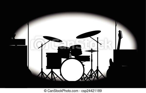 Afiche de banda de rock a medio tono - csp24421189