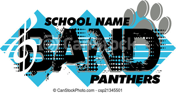 Diseño de bandas Panthers - csp21345501