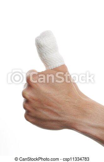 bandage on a finger - csp11334783