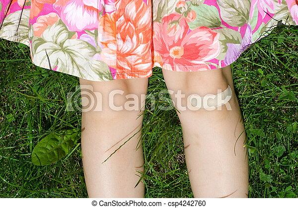 Bandage on injury - csp4242760