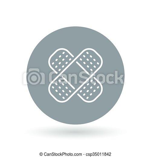 Bandaid Icon Bandage Sign Plaster Symbol Vector Eps Vector