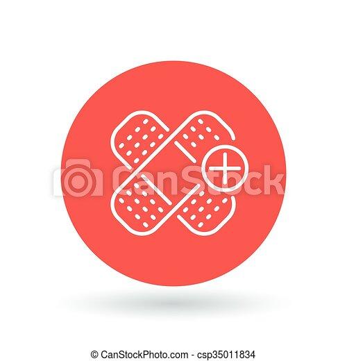 Bandaid Icon Bandage Sign Plaster Symbol Vector Vectors