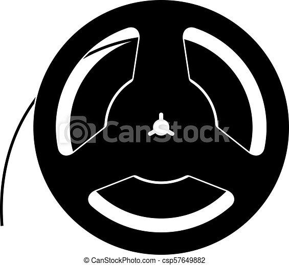 bande magnétique, bobine - csp57649882
