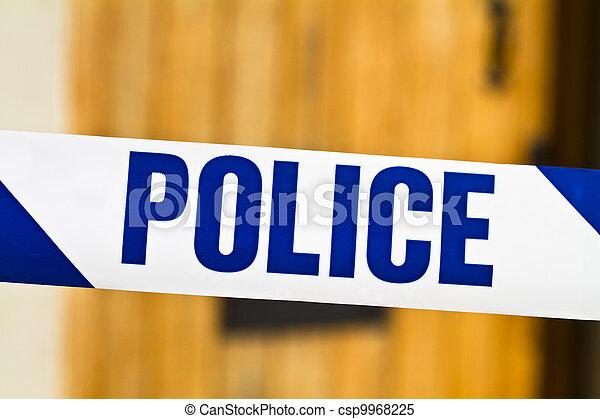 bande, porte, travers, ouvert, police - csp9968225