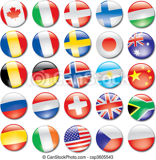 bandeira, ícones - csp3605543