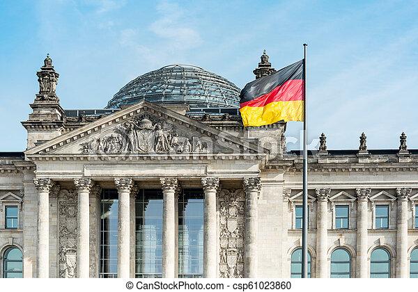 bandeira alemã, alemanha, berlim - csp61023860