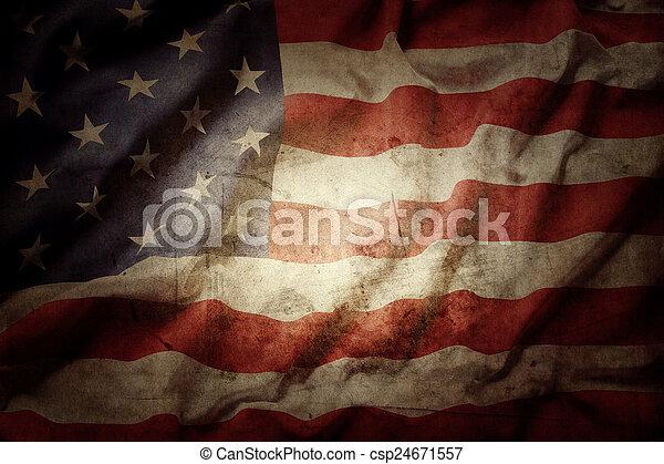 bandeira americana - csp24671557