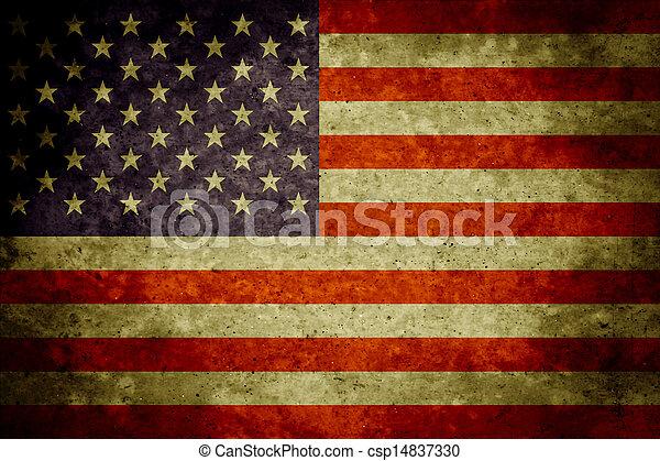 bandeira americana, fundo - csp14837330