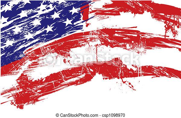 bandeira americana, fundo - csp1098970