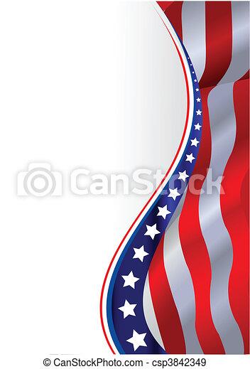 bandeira americana, fundo - csp3842349