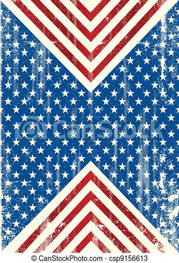 bandeira americana, fundo, sujo - csp9156613