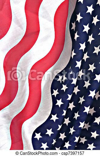 bandeira americana, tecido - csp7397157