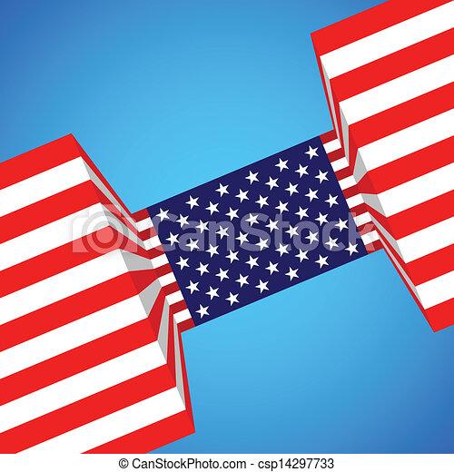 bandeira americana - csp14297733