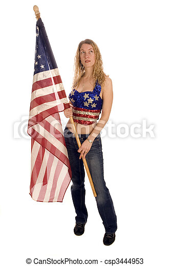bandeira, americano, patriota - csp3444953