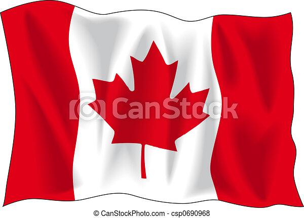 bandeira, canadense - csp0690968