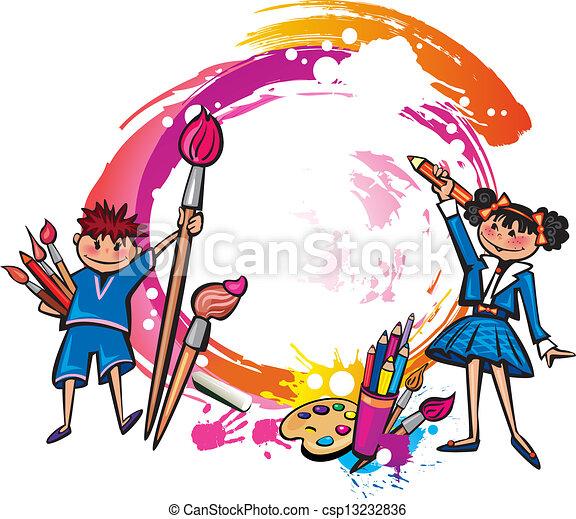 Bandeira Criancas Coloridos Desenho
