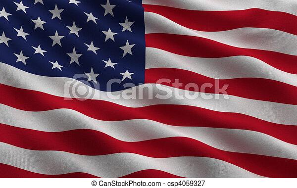 bandeira, eua - csp4059327