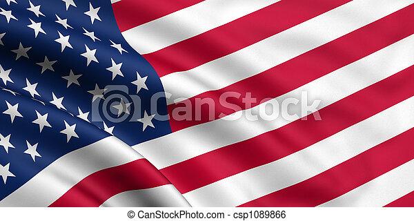 bandeira, eua - csp1089866