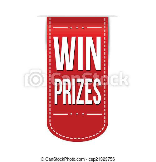 bandeira, ganhe, desenho, prêmios - csp21323756