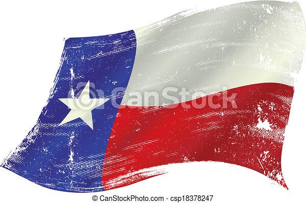 bandeira, grunge, texas - csp18378247