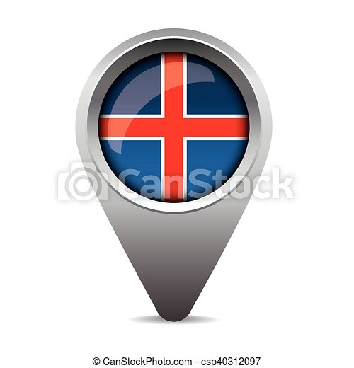 bandeira islândia, vetorial, ponteiro - csp40312097