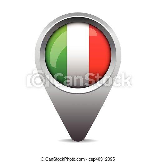 bandeira itália, vetorial, ponteiro - csp40312095