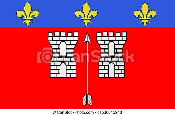 Bandeira La Fleche Franca Cidade Commune La Paga Regiao