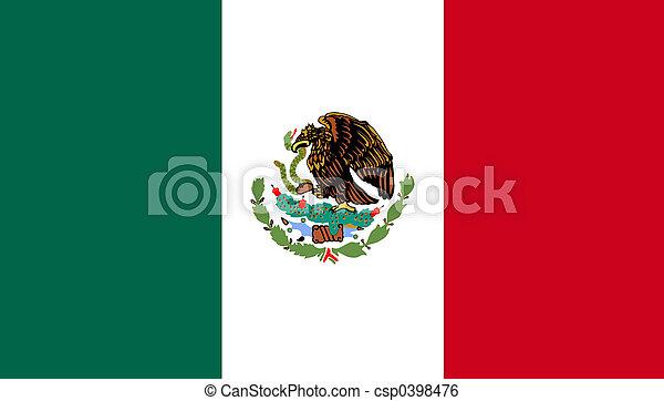 bandeira, méxico - csp0398476