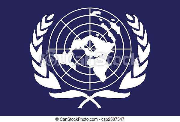 bandeira, nações unidas - csp2507547