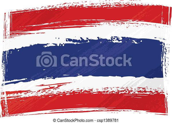 bandeira tailândia, grunge - csp1389781