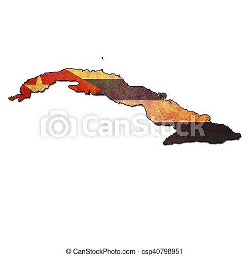 bandeira, território, cuba - csp40798951