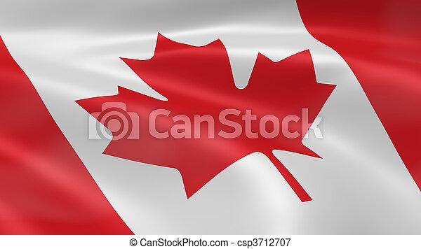 bandeira, vento, canadense - csp3712707