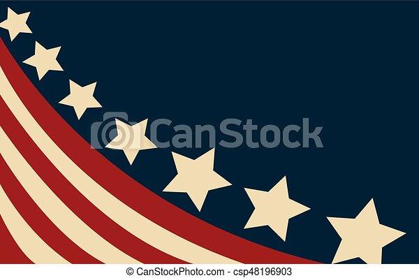 bandeira, vetorial, estilo, eua - csp48196903