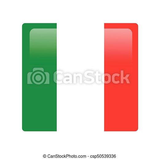 bandeira, vetorial, italiano - csp50539336