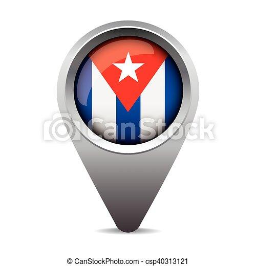bandeira, vetorial, ponteiro, cuba - csp40313121