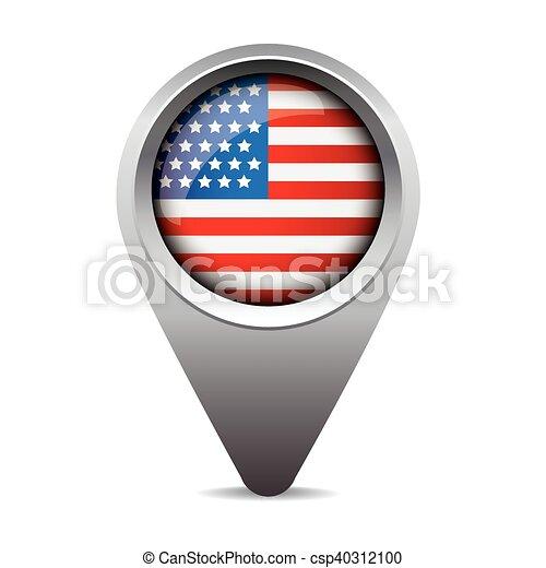 bandeira, vetorial, ponteiro, eua - csp40312100