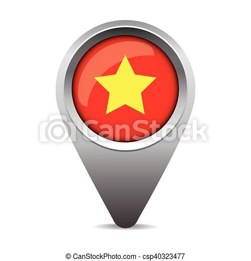 bandeira, vetorial, ponteiro, vietnã - csp40323477