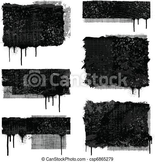 bandeiras, grunge - csp6865279