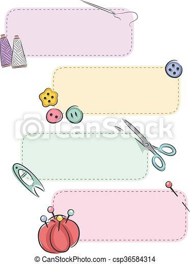 bandeiras, noções sewing, remendo - csp36584314