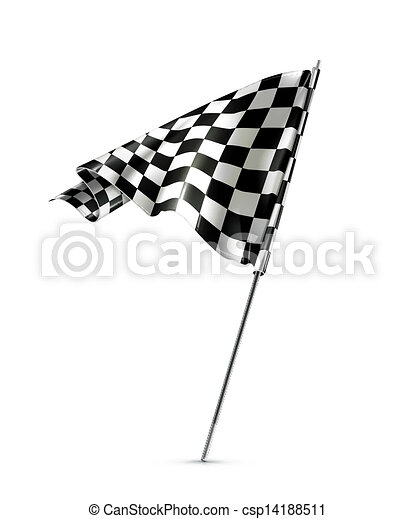 Bandera a cuadros - csp14188511