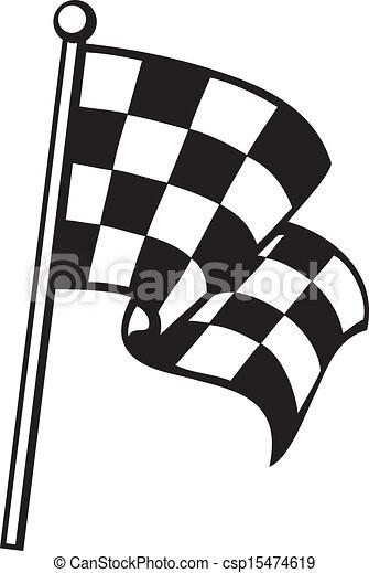 Bandera a cuadros - csp15474619